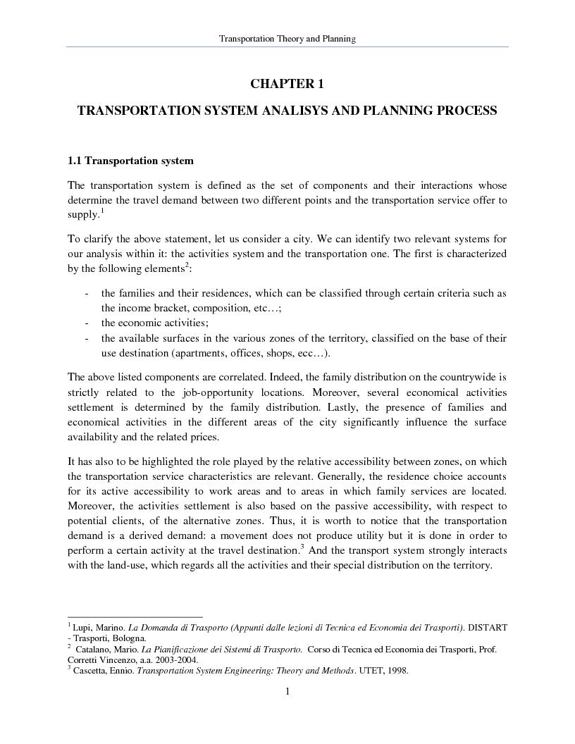 Anteprima della tesi: Transportation Theory and Planning, Pagina 2