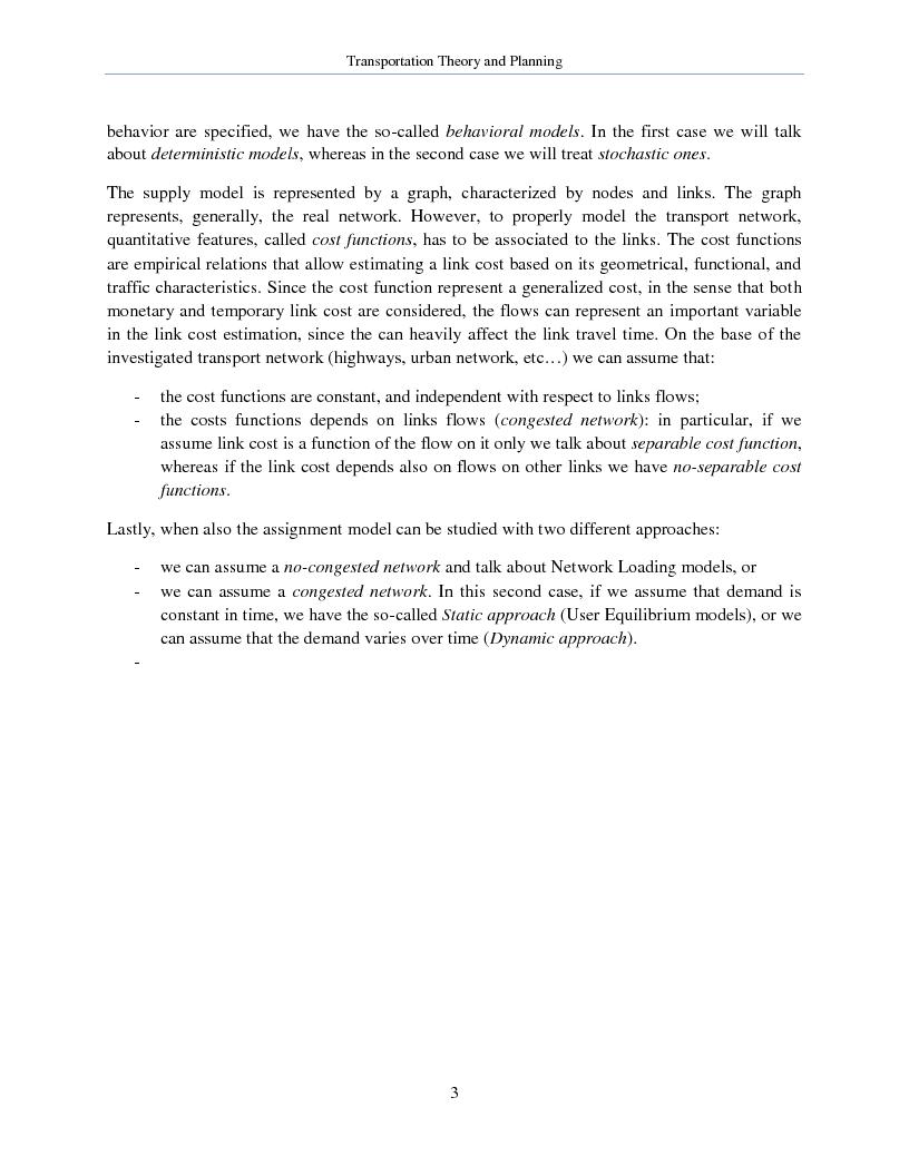 Anteprima della tesi: Transportation Theory and Planning, Pagina 4