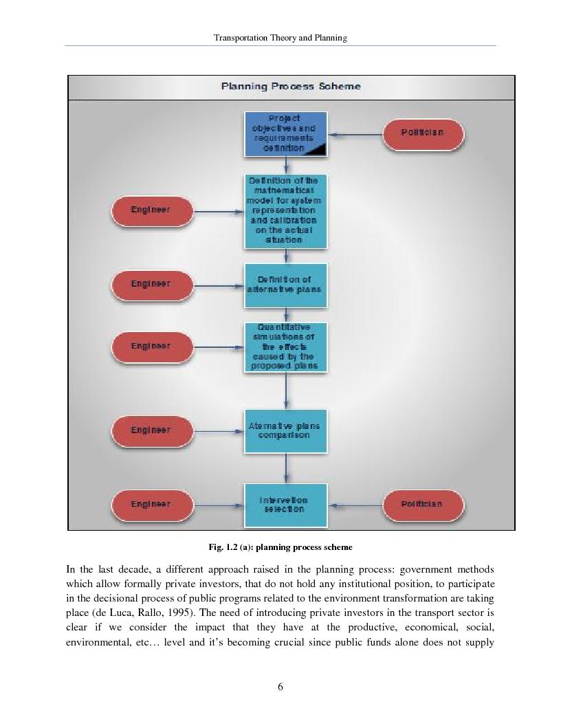 Anteprima della tesi: Transportation Theory and Planning, Pagina 7