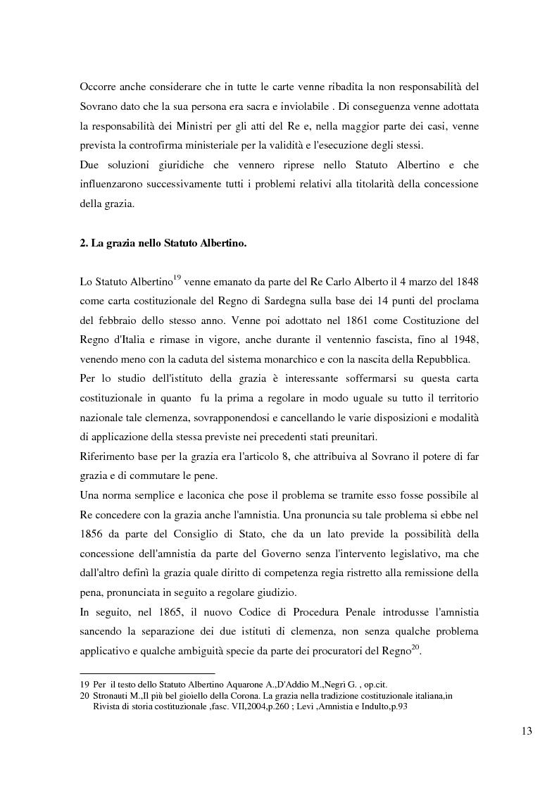 Anteprima della tesi: Il potere di grazia del Presidente della Repubblica, Pagina 10