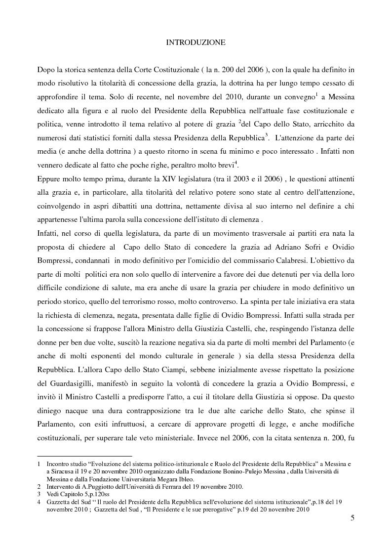Anteprima della tesi: Il potere di grazia del Presidente della Repubblica, Pagina 2