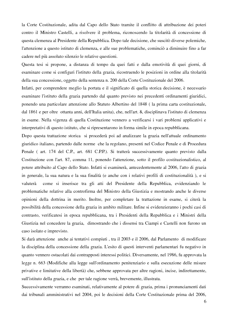 Anteprima della tesi: Il potere di grazia del Presidente della Repubblica, Pagina 3
