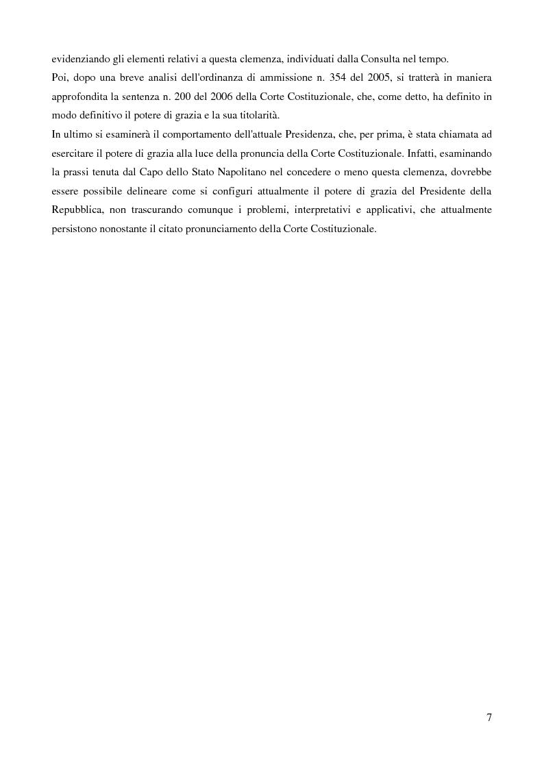 Anteprima della tesi: Il potere di grazia del Presidente della Repubblica, Pagina 4