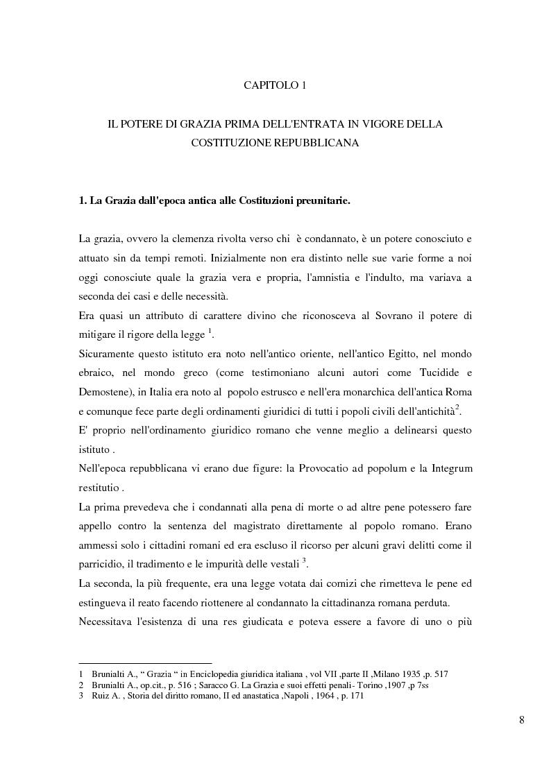 Anteprima della tesi: Il potere di grazia del Presidente della Repubblica, Pagina 5