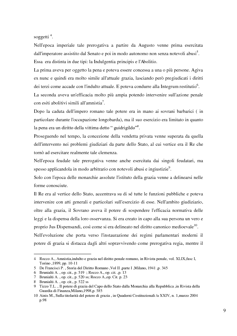 Anteprima della tesi: Il potere di grazia del Presidente della Repubblica, Pagina 6