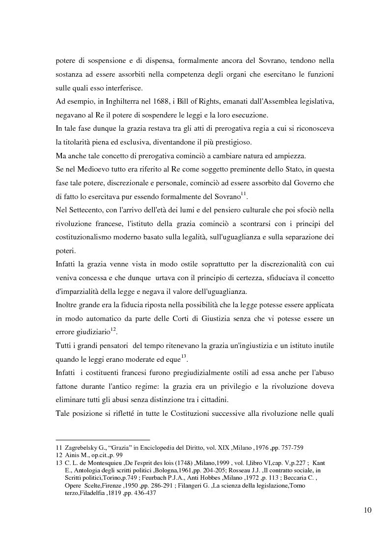 Anteprima della tesi: Il potere di grazia del Presidente della Repubblica, Pagina 7