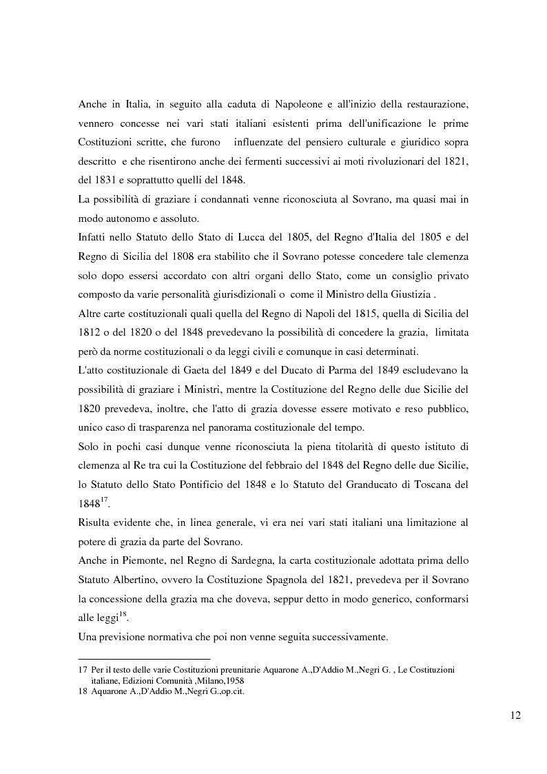 Anteprima della tesi: Il potere di grazia del Presidente della Repubblica, Pagina 9