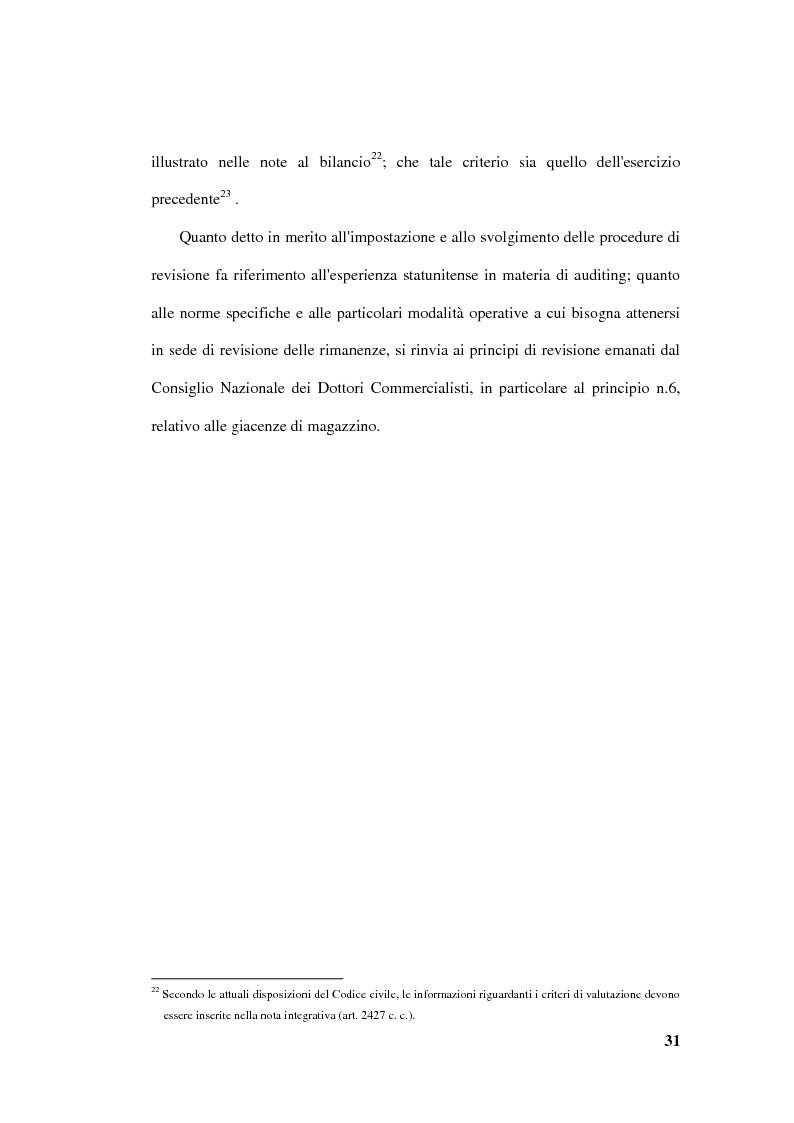 Anteprima della tesi: La revisione delle rimanenze nel bilancio d'esercizio, Pagina 14