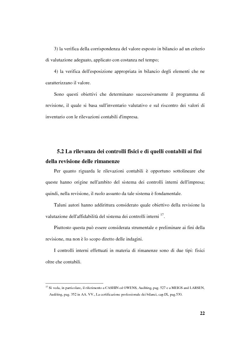Anteprima della tesi: La revisione delle rimanenze nel bilancio d'esercizio, Pagina 5