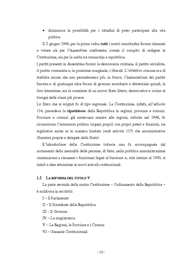 Anteprima della tesi: La relazione previsionale e programmatica. Caratteristiche teoriche e problemi di implementazione., Pagina 5