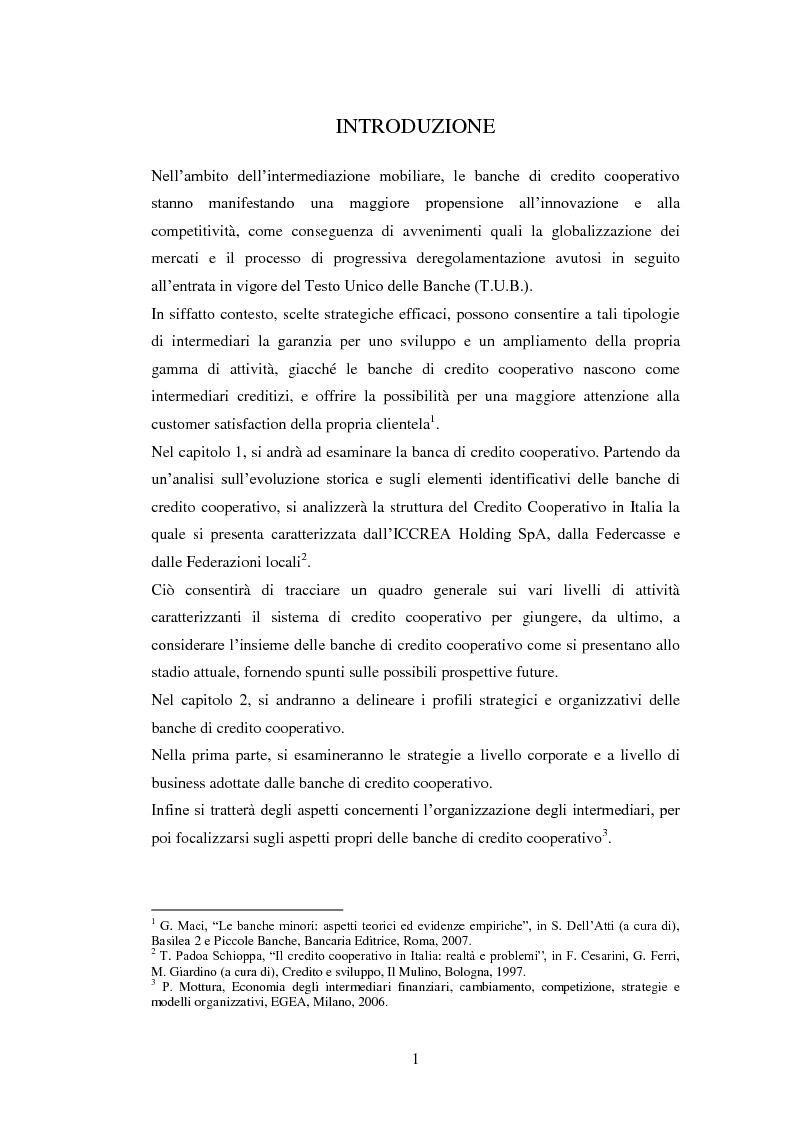 Anteprima della tesi: Le strategie delle banche di credito cooperativo nel settore dell'intermediazione mobiliare, Pagina 2