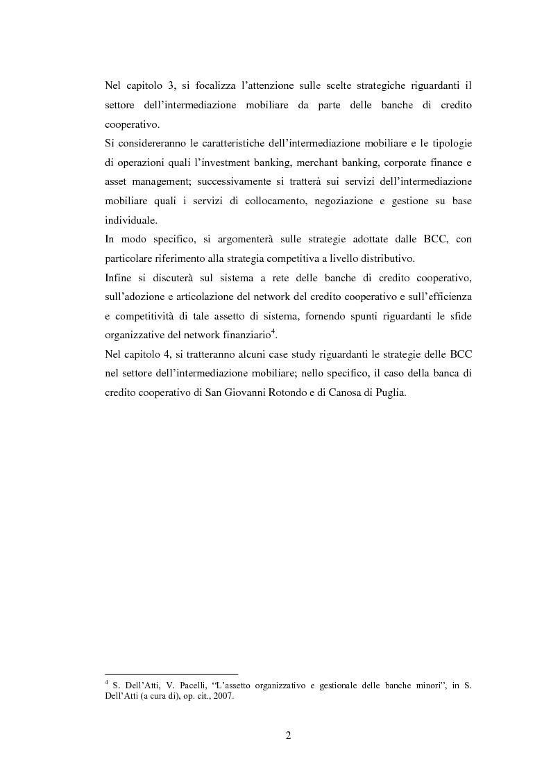 Anteprima della tesi: Le strategie delle banche di credito cooperativo nel settore dell'intermediazione mobiliare, Pagina 3