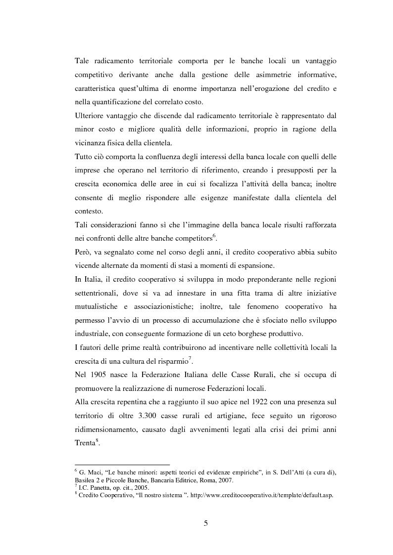 Anteprima della tesi: Le strategie delle banche di credito cooperativo nel settore dell'intermediazione mobiliare, Pagina 6