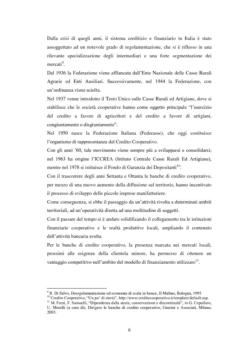 Anteprima della tesi: Le strategie delle banche di credito cooperativo nel settore dell'intermediazione mobiliare, Pagina 7