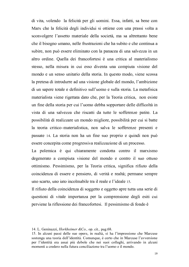Estratto dalla tesi: Herbert Marcuse, tra Marxismo e Teoria Critica