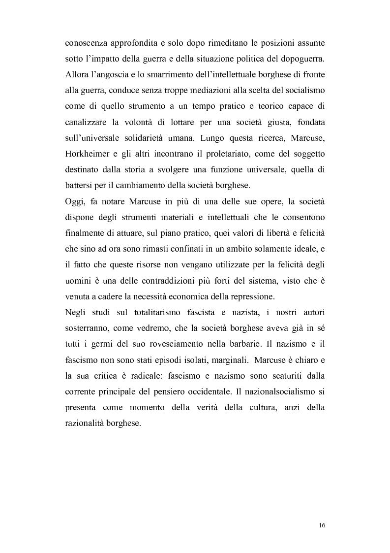 Anteprima della tesi: Herbert Marcuse, tra Marxismo e Teoria Critica , Pagina 13