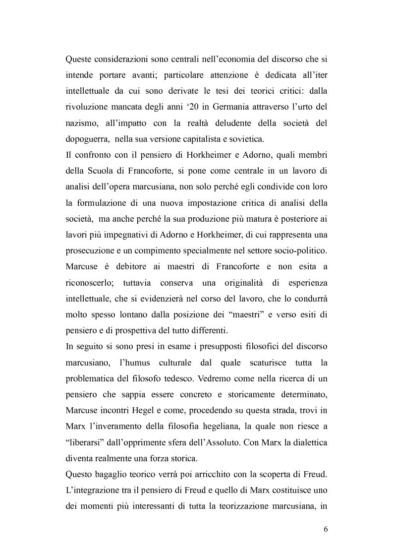 Anteprima della tesi: Herbert Marcuse, tra Marxismo e Teoria Critica , Pagina 3