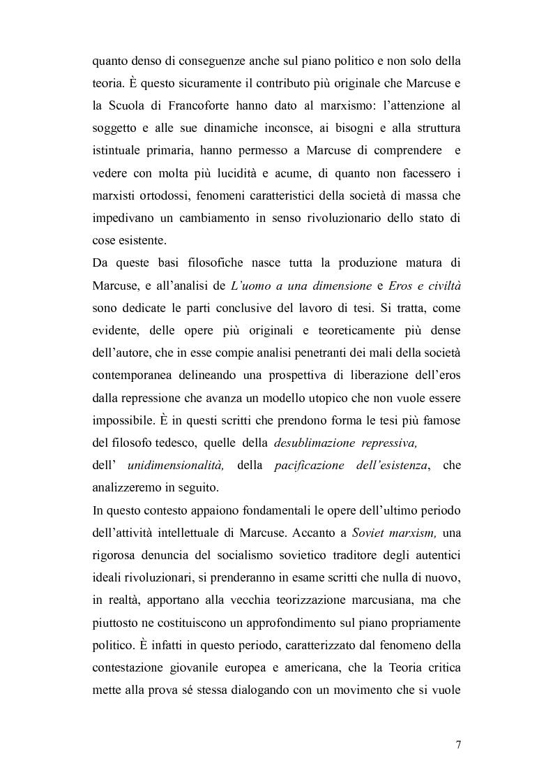 Anteprima della tesi: Herbert Marcuse, tra Marxismo e Teoria Critica , Pagina 4