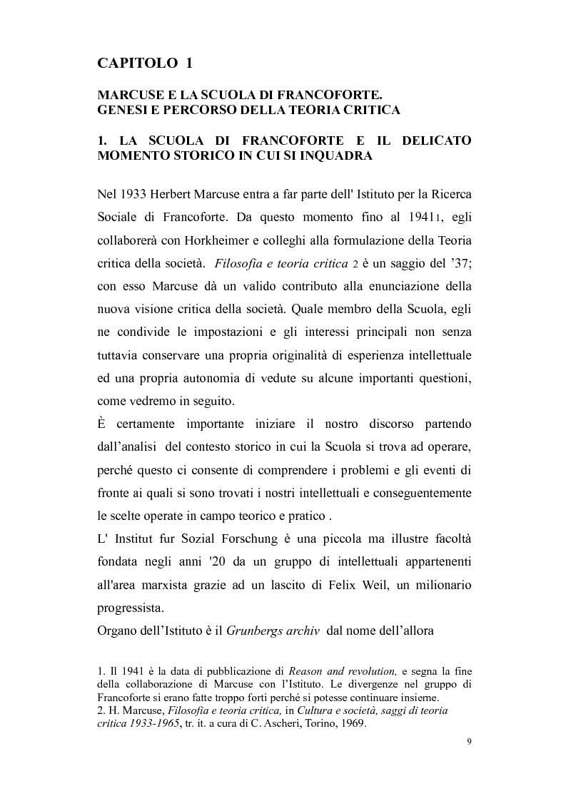 Anteprima della tesi: Herbert Marcuse, tra Marxismo e Teoria Critica , Pagina 6