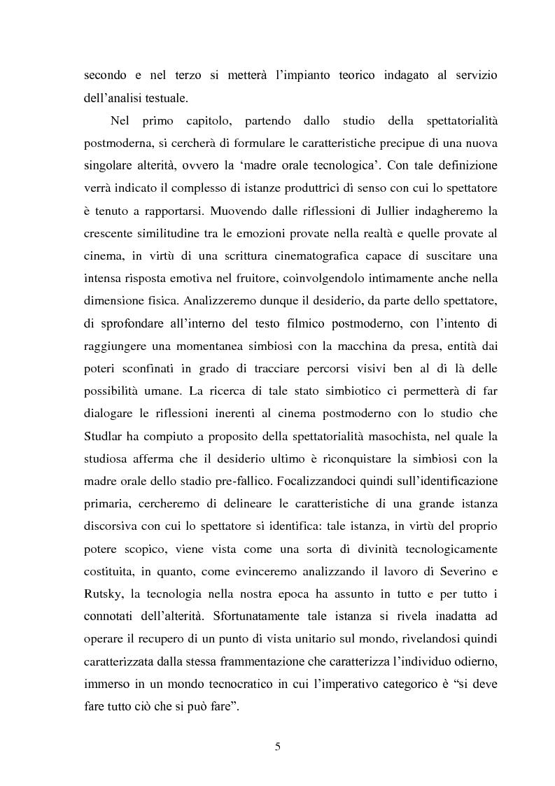 Anteprima della tesi: La madre orale tecnologica. Il rapporto tra lo spettatore e l'alterità nel cinema postmoderno, Pagina 3