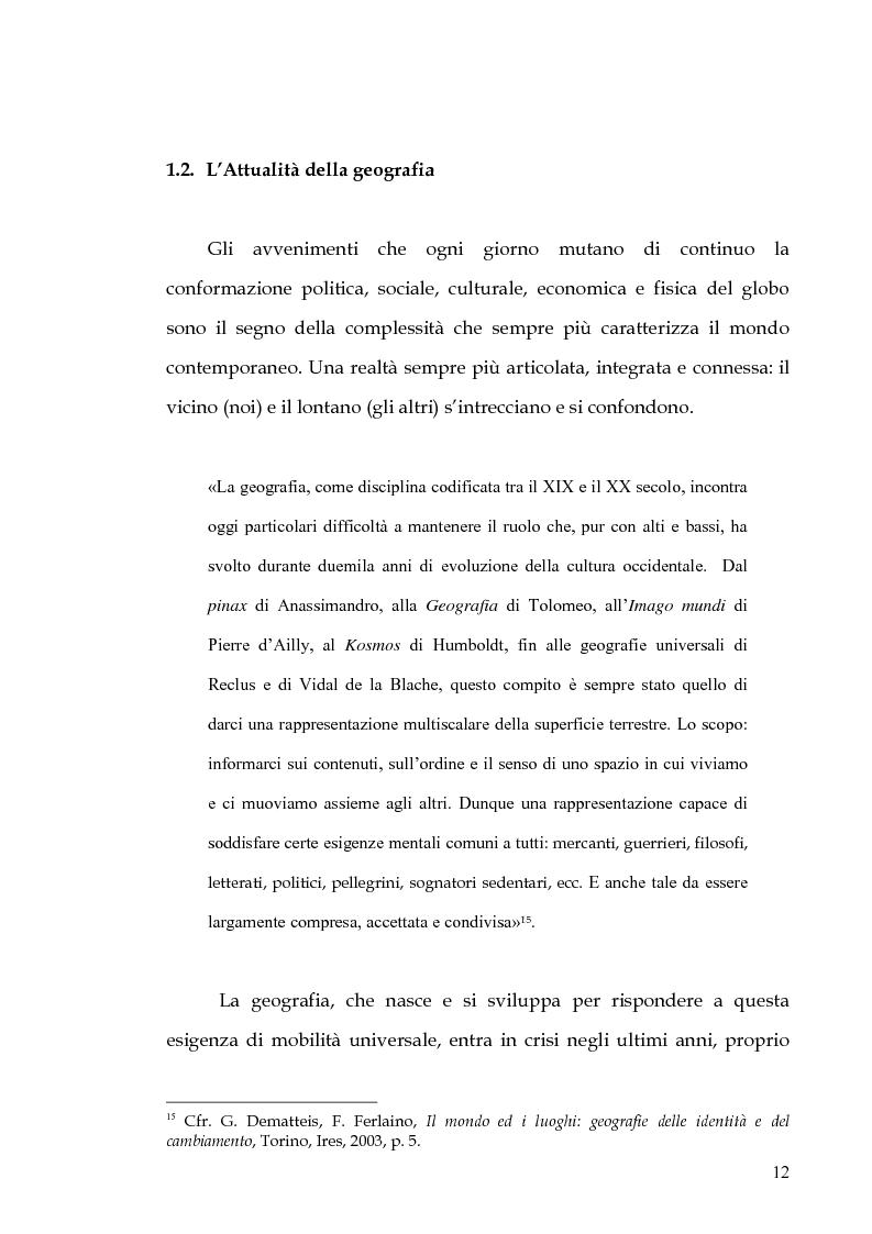 Anteprima della tesi: Percorsi di formazione e aggiornamento per l'insegnamento della geografia nella scuola di base, Pagina 10