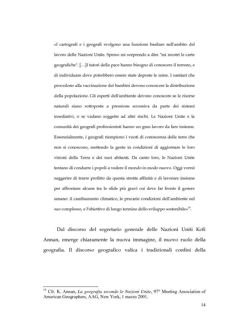 Anteprima della tesi: Percorsi di formazione e aggiornamento per l'insegnamento della geografia nella scuola di base, Pagina 12