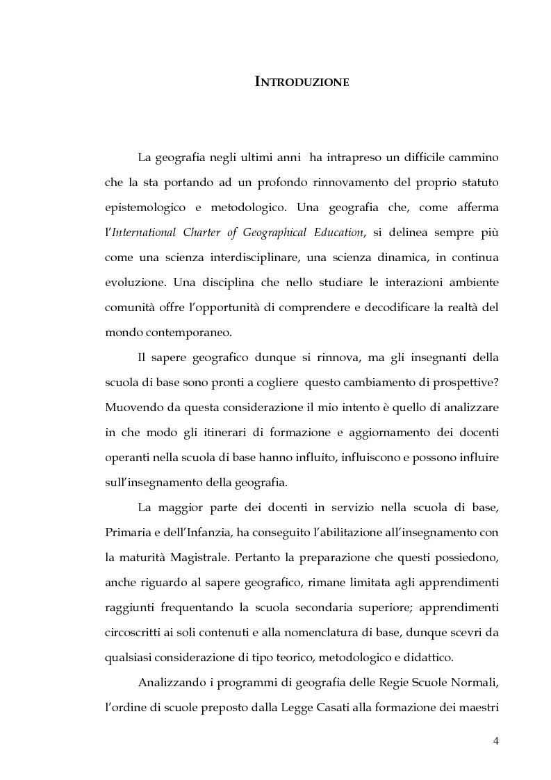 Anteprima della tesi: Percorsi di formazione e aggiornamento per l'insegnamento della geografia nella scuola di base, Pagina 2