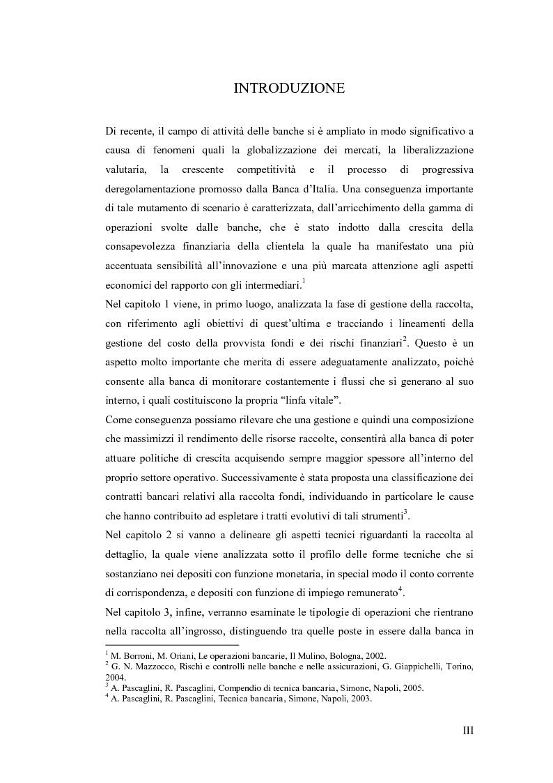 Anteprima della tesi: L'evoluzione delle forme di raccolta nelle banche, Pagina 2