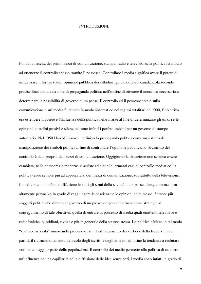 Anteprima della tesi: E-democracy. Tra controllo politico e new media., Pagina 2