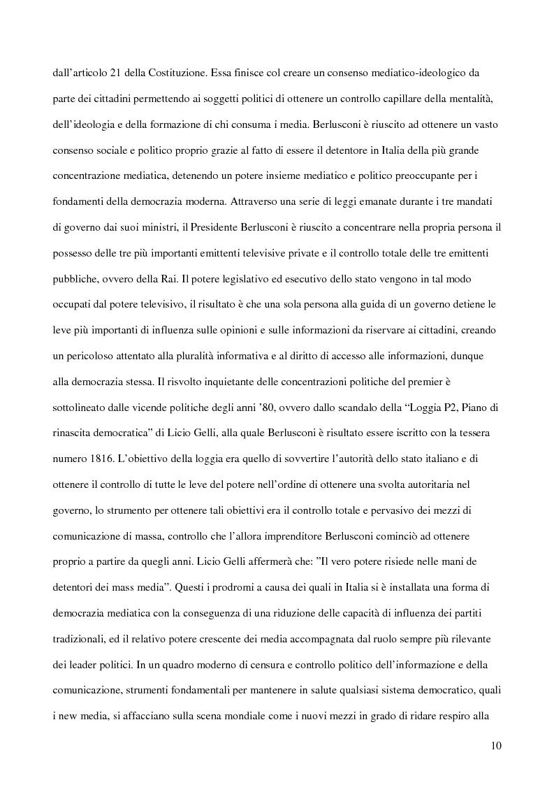 Anteprima della tesi: E-democracy. Tra controllo politico e new media., Pagina 5
