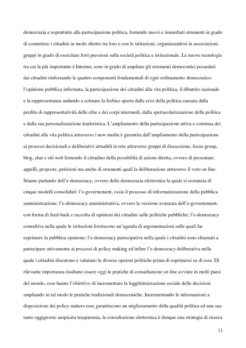Anteprima della tesi: E-democracy. Tra controllo politico e new media., Pagina 6