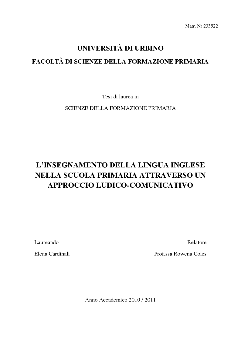 tesi di laurea magistrale l 39 insegnamento della lingua