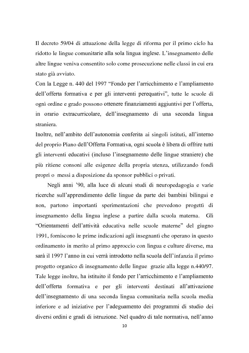 Anteprima della tesi: L'insegnamento della lingua inglese nella scuola primaria attraverso un approccio ludico-comunicativo, Pagina 11