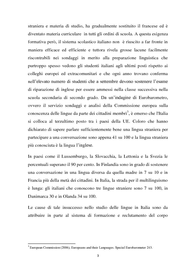 Anteprima della tesi: L'insegnamento della lingua inglese nella scuola primaria attraverso un approccio ludico-comunicativo, Pagina 4