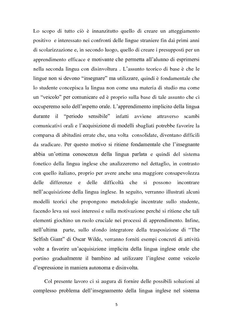 Anteprima della tesi: L'insegnamento della lingua inglese nella scuola primaria attraverso un approccio ludico-comunicativo, Pagina 6
