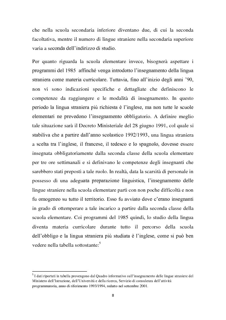 Anteprima della tesi: L'insegnamento della lingua inglese nella scuola primaria attraverso un approccio ludico-comunicativo, Pagina 9