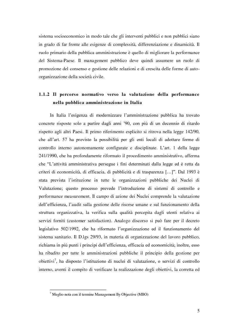 Anteprima della tesi: Il Performance Management nella Pubblica Amministrazione: studio di una metodologia applicata alle Procure della Repubblica, Pagina 12