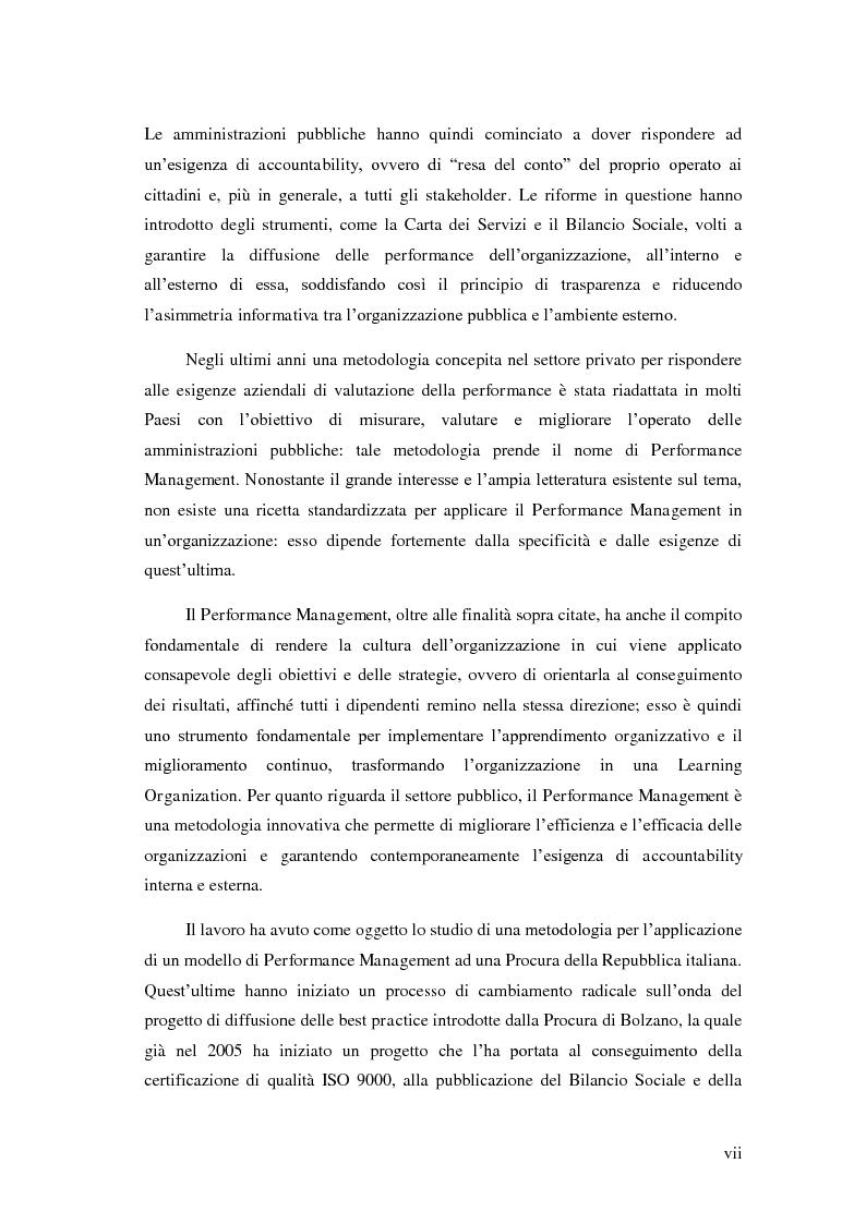 Anteprima della tesi: Il Performance Management nella Pubblica Amministrazione: studio di una metodologia applicata alle Procure della Repubblica, Pagina 3