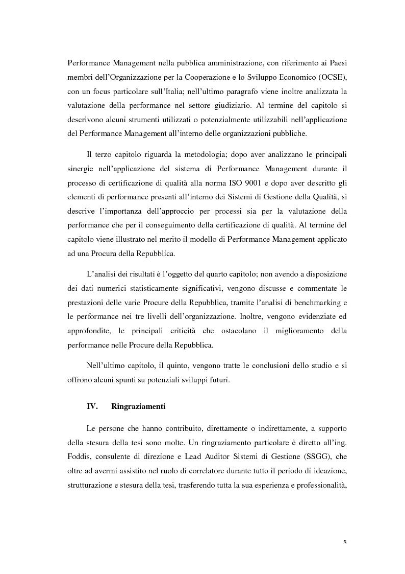 Anteprima della tesi: Il Performance Management nella Pubblica Amministrazione: studio di una metodologia applicata alle Procure della Repubblica, Pagina 6