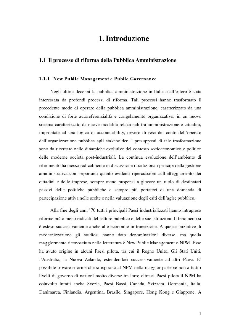 Anteprima della tesi: Il Performance Management nella Pubblica Amministrazione: studio di una metodologia applicata alle Procure della Repubblica, Pagina 8