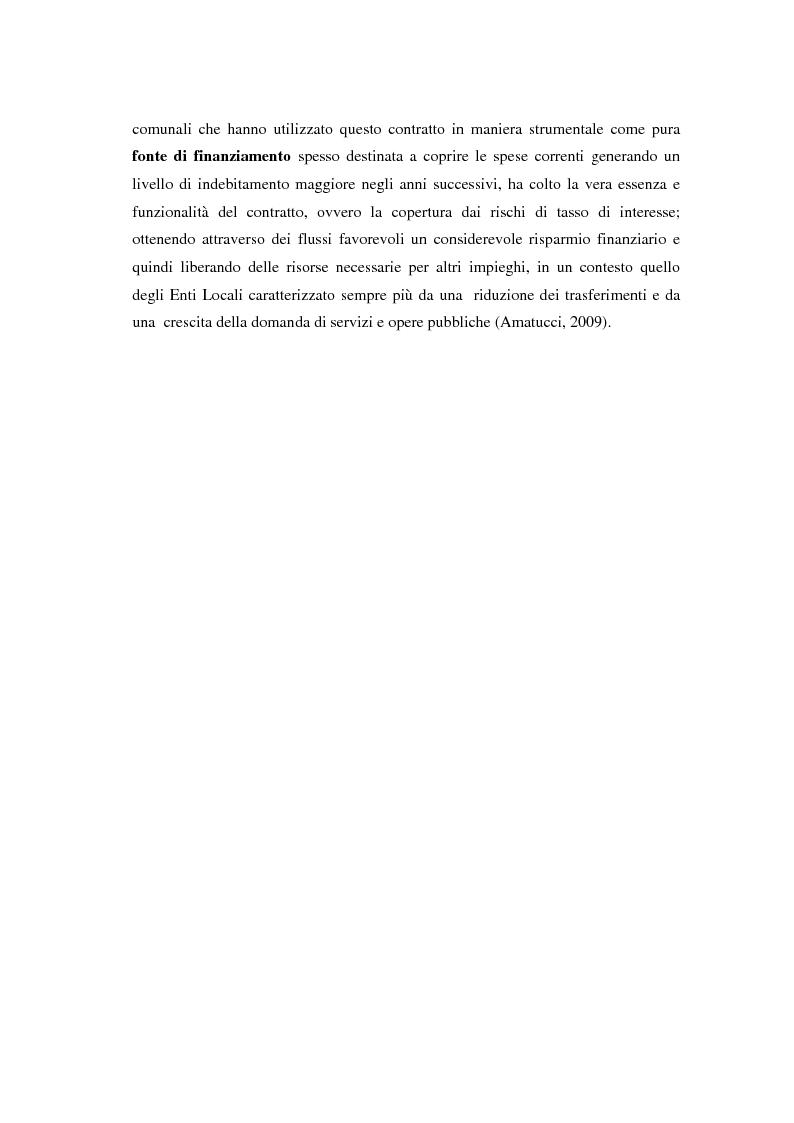 Anteprima della tesi: Strumenti Finanziari Derivati negli Enti Locali: margini di utilità e rischi, Pagina 6