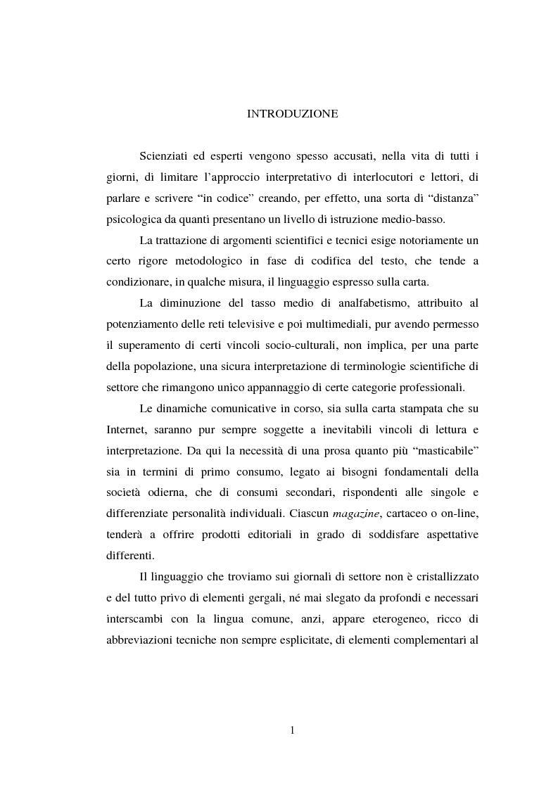 Anteprima della tesi: Comunicazione Scientifica, Leggibilità, Divulgazione, Pagina 2