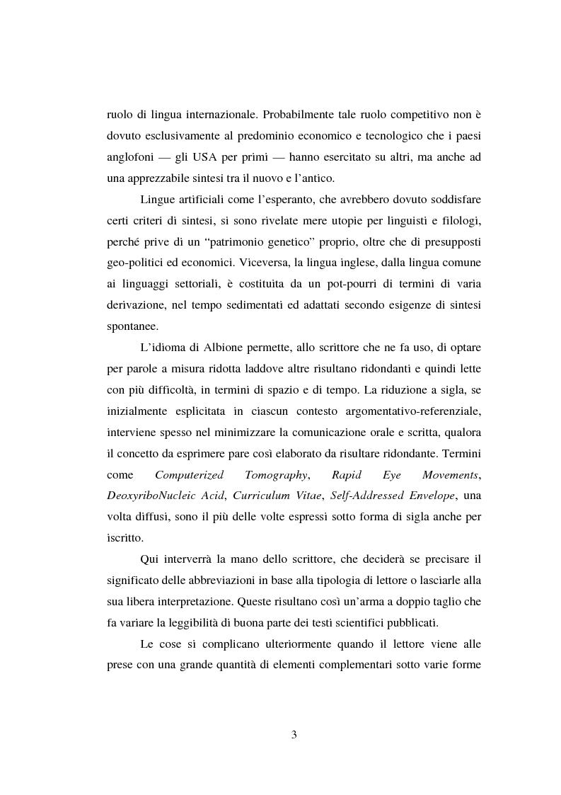 Anteprima della tesi: Comunicazione Scientifica, Leggibilità, Divulgazione, Pagina 4