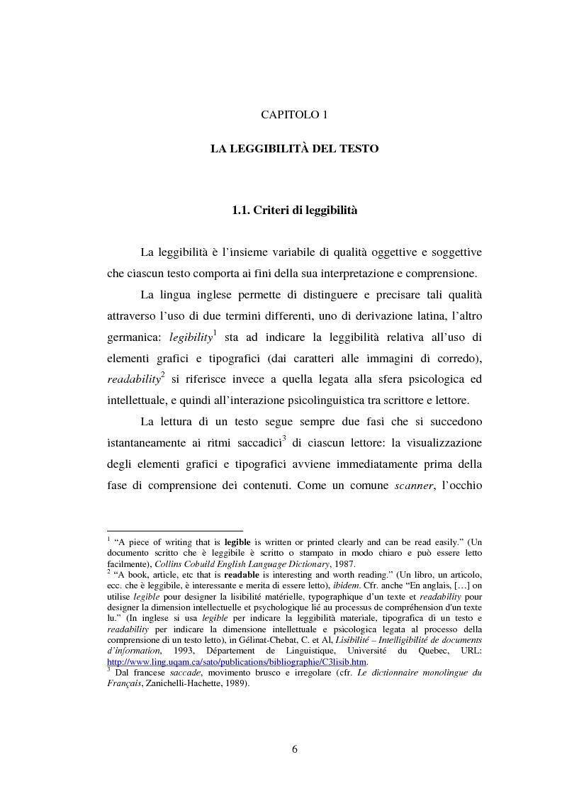 Anteprima della tesi: Comunicazione Scientifica, Leggibilità, Divulgazione, Pagina 7