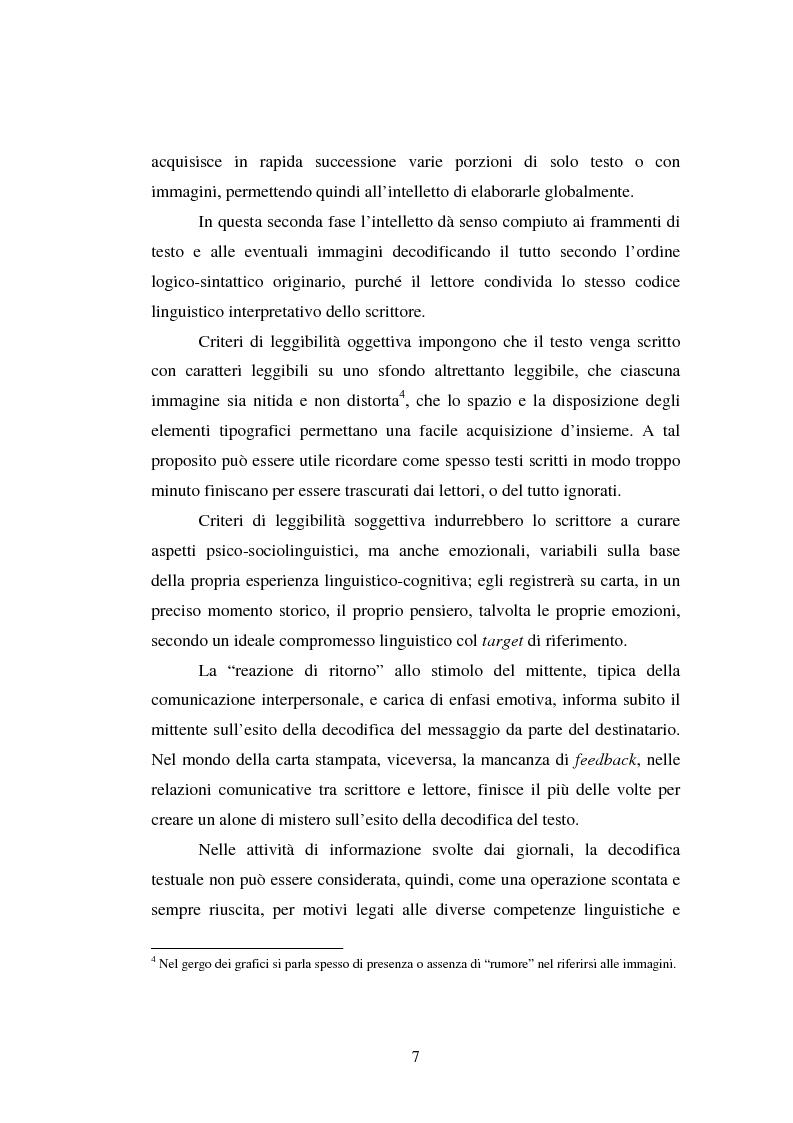 Anteprima della tesi: Comunicazione Scientifica, Leggibilità, Divulgazione, Pagina 8