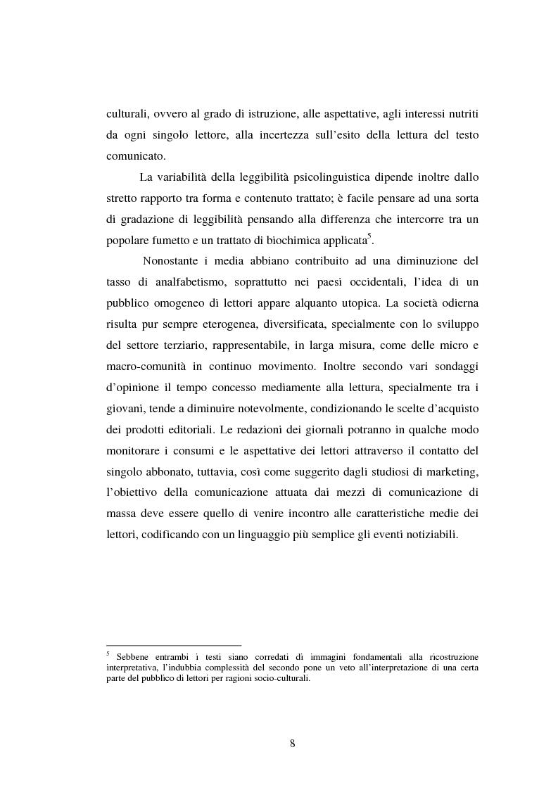 Anteprima della tesi: Comunicazione Scientifica, Leggibilità, Divulgazione, Pagina 9