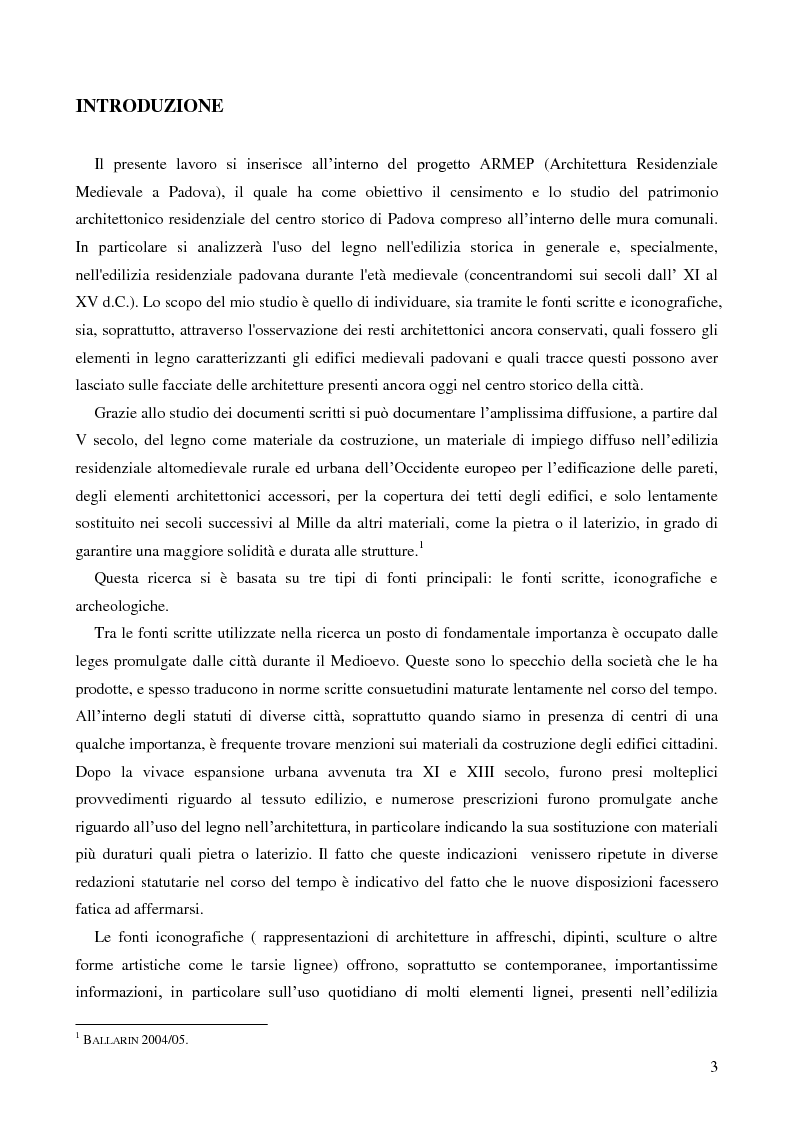 Anteprima della tesi: L'uso del legno nell'architettura residenziale bassomedievale: il caso di Padova, Pagina 2