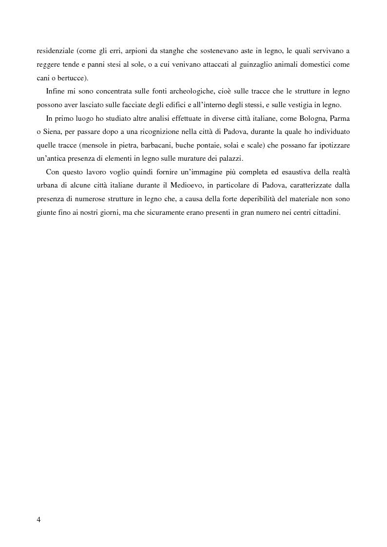 Anteprima della tesi: L'uso del legno nell'architettura residenziale bassomedievale: il caso di Padova, Pagina 3