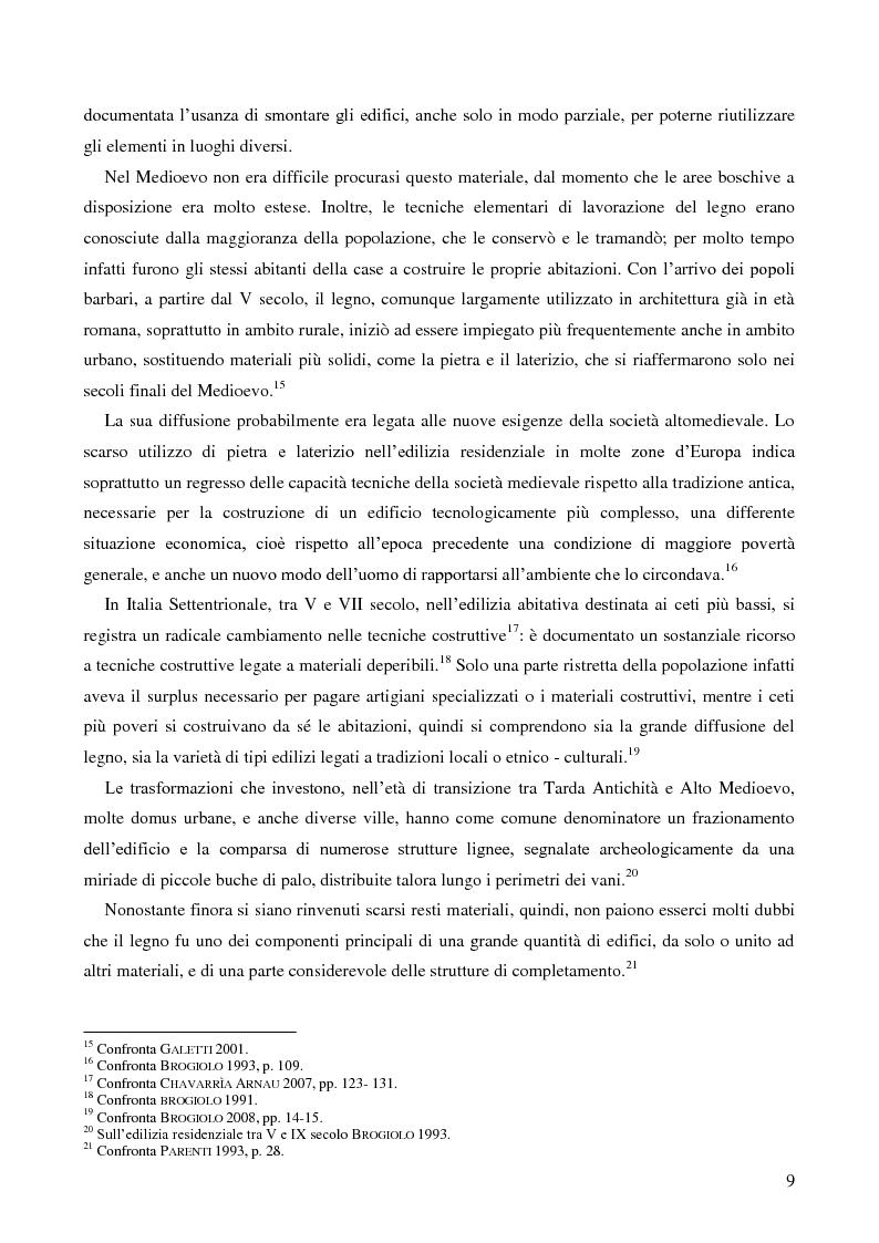Anteprima della tesi: L'uso del legno nell'architettura residenziale bassomedievale: il caso di Padova, Pagina 8
