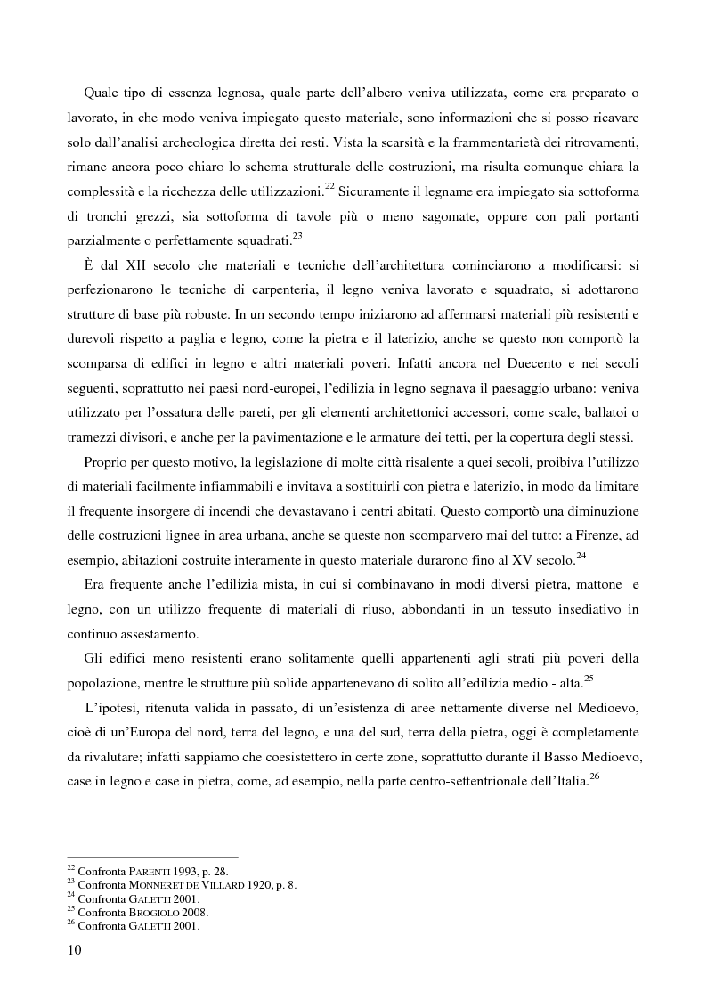 Anteprima della tesi: L'uso del legno nell'architettura residenziale bassomedievale: il caso di Padova, Pagina 9